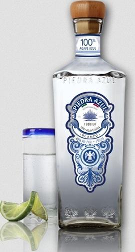 piedra azul blanco tequila