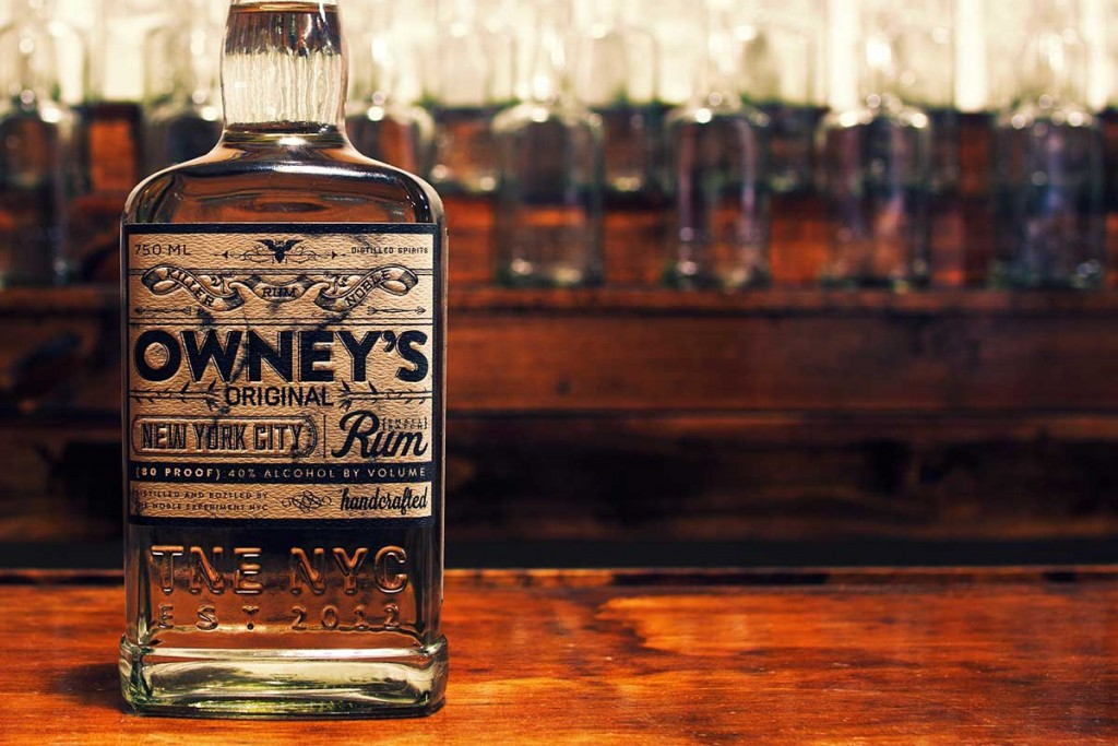 the noble experiment owneys rum bottle