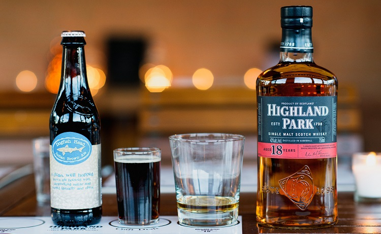 highland park scotch and beer