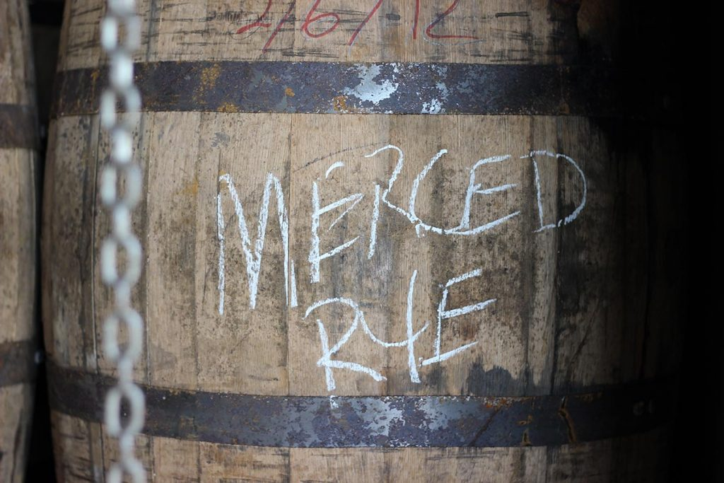 corbin cash merced rye whiskey barrel