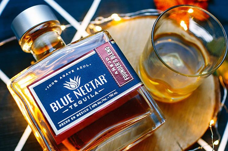 blue nectar anejo founders blend tequila