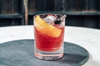 cherry smash cocktail