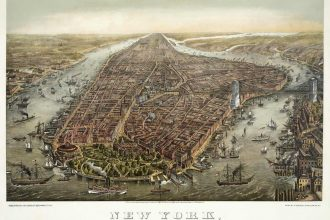 New York Manhattan, circa 1873