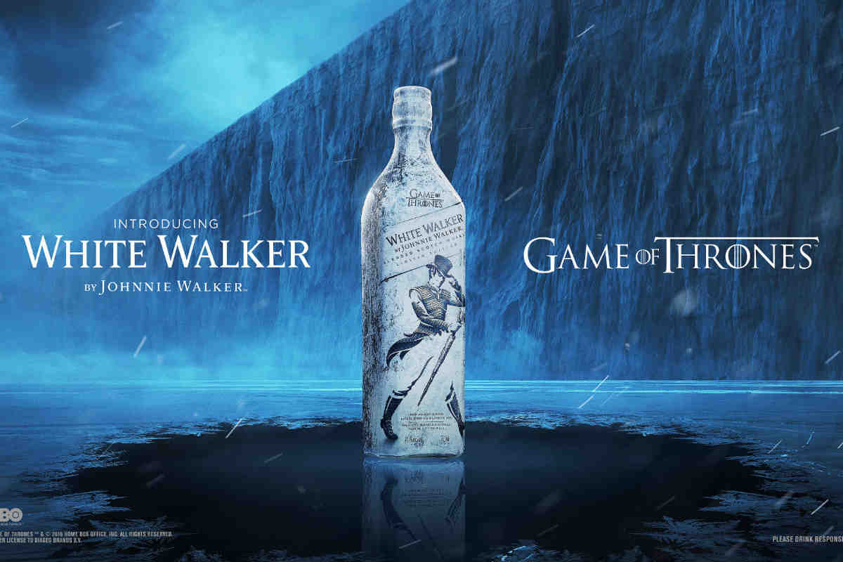 Johnnie Walker White Walker Whisky. Photo: Diageo.