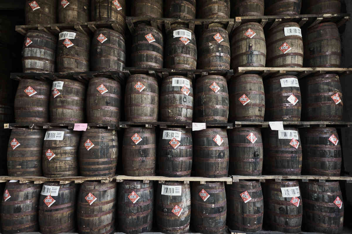 Hiram Walker Barrels