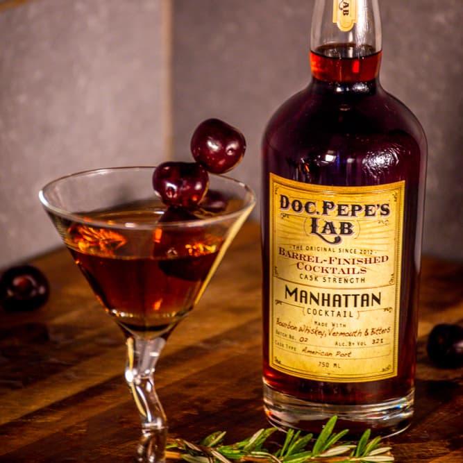 Doc Pepe's Bottled Manhattan