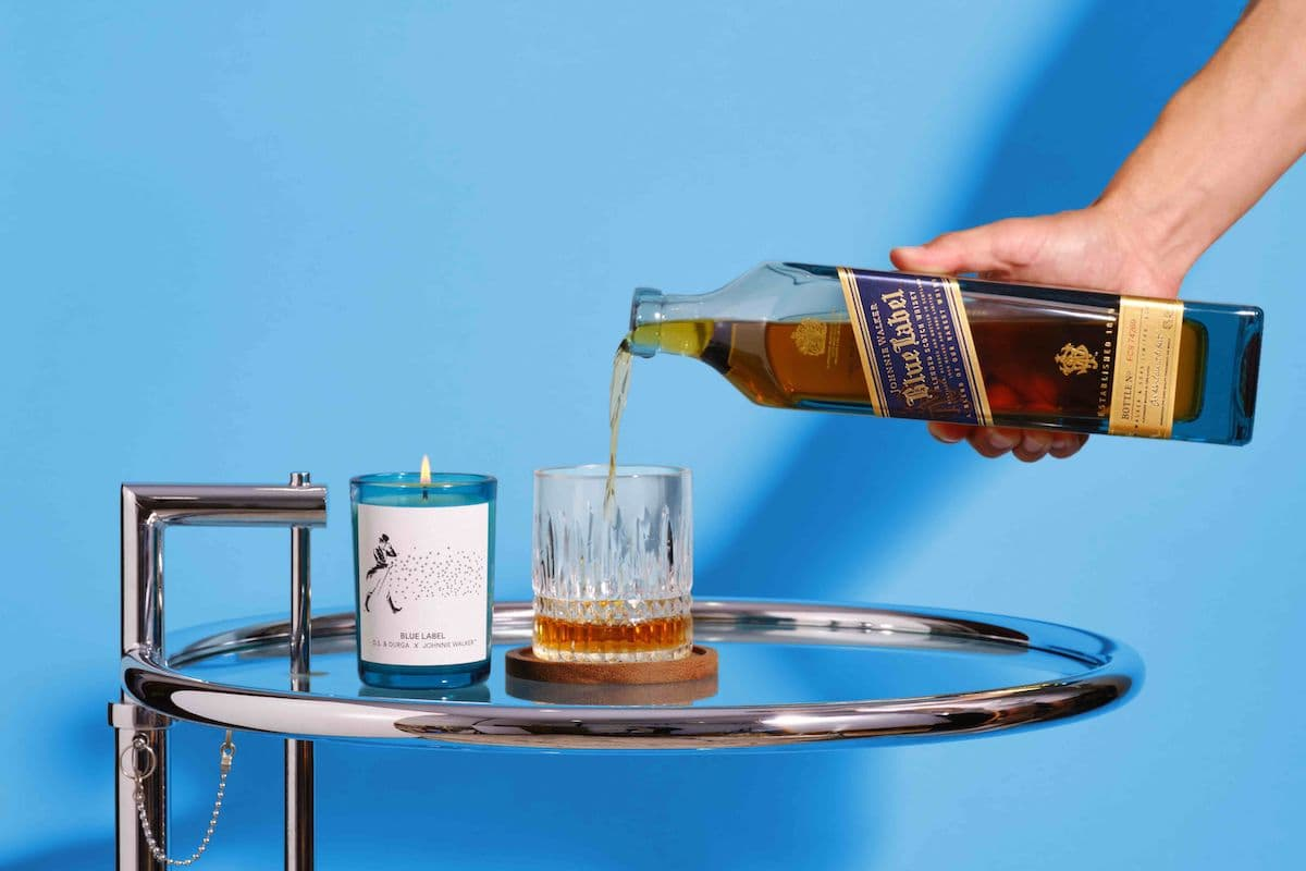 johnnie walker blue label candle