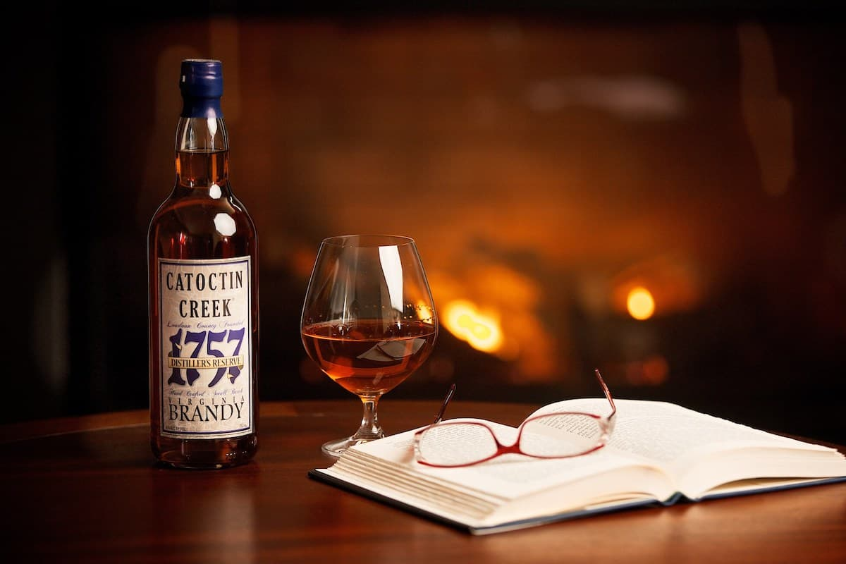 Catoctin Creek 1757 Brandy and an open book