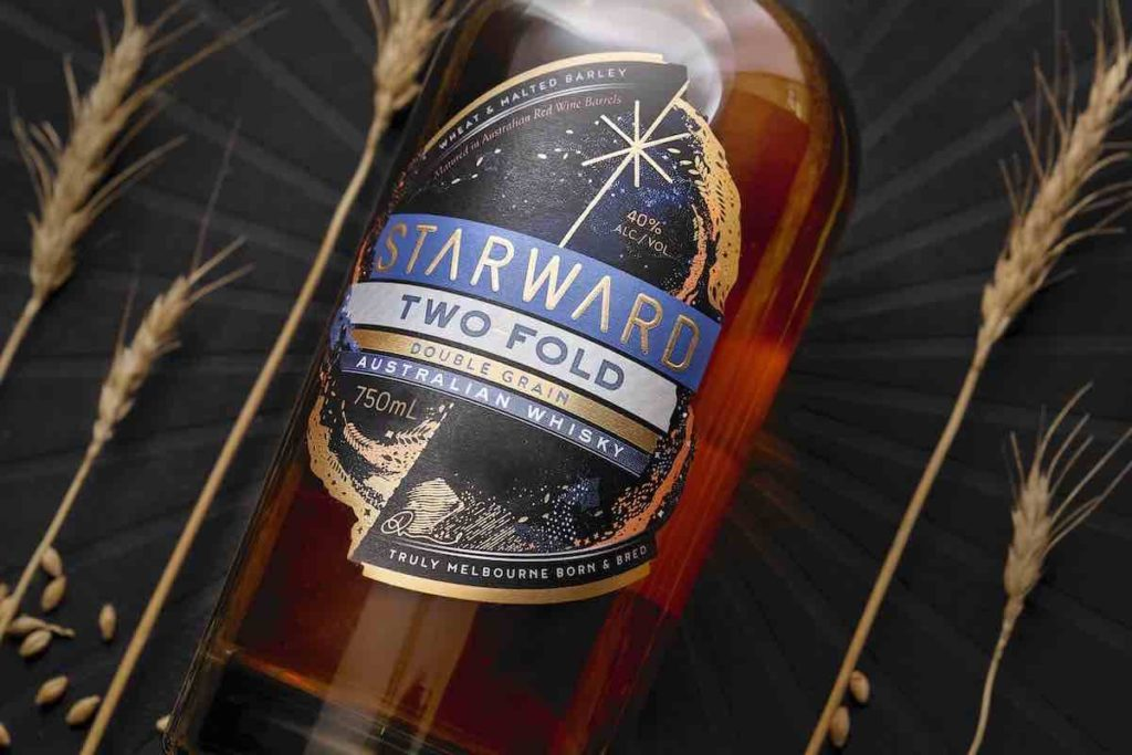 bottle of starward two-fold australian whisky