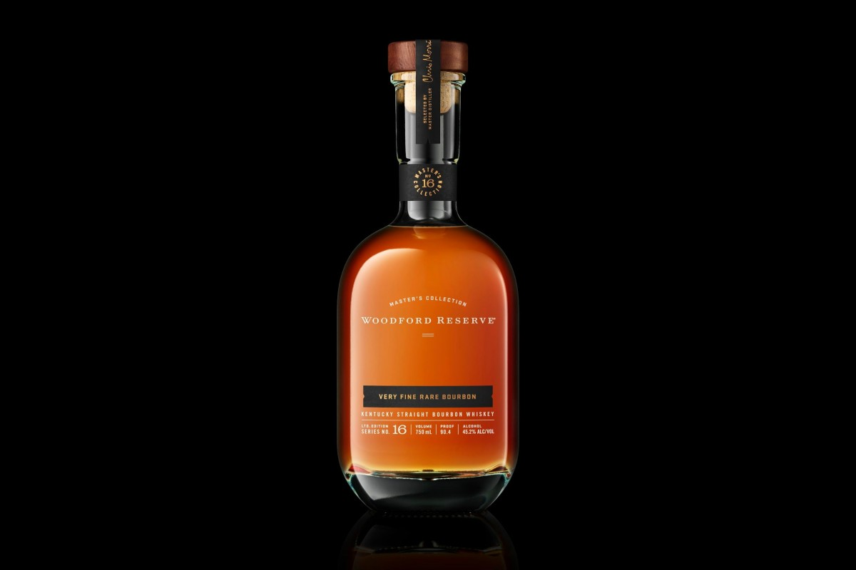 bottle of woodford reserve very fine rare bourbon