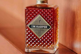 I.W. Harper 15 Year Old Bourbon in decanter bottle
