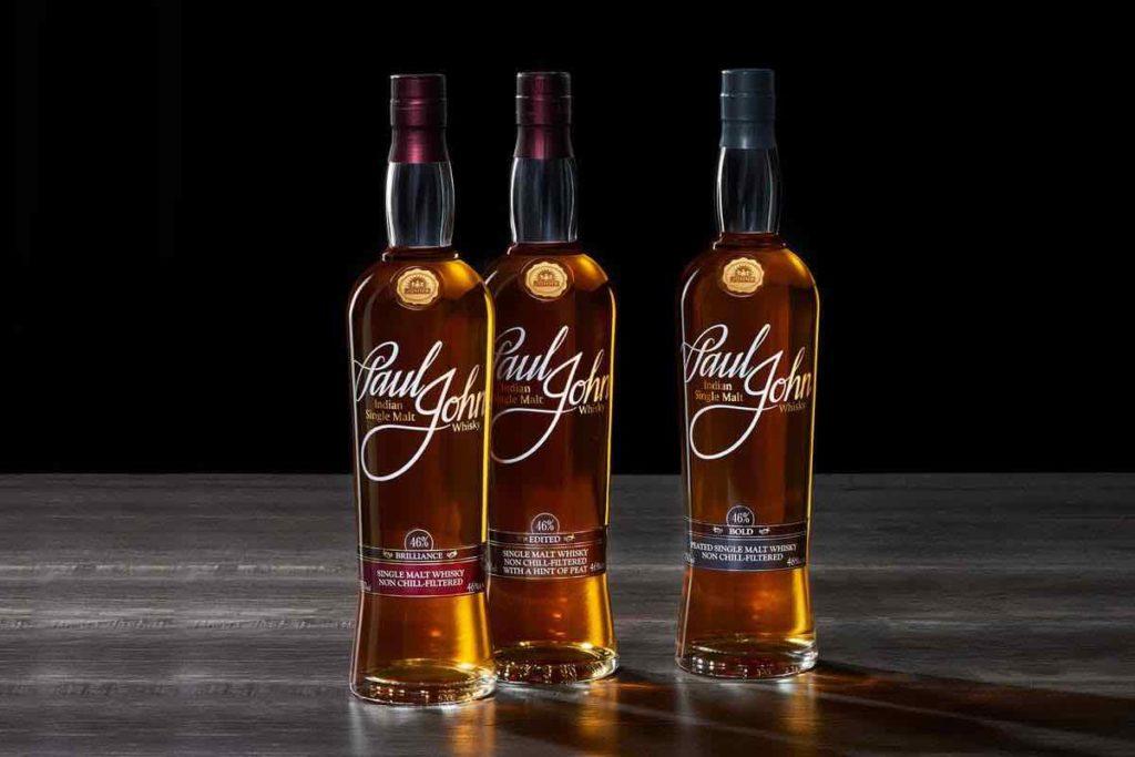 paul john whisky bottles