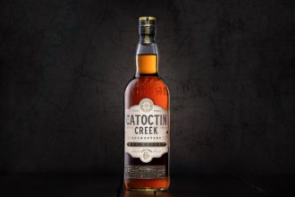 catoctin creek roundstone rye maple cask rye whiskey bottle