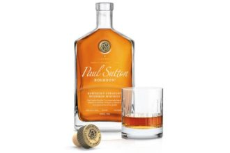 paul sutton bourbon with glass