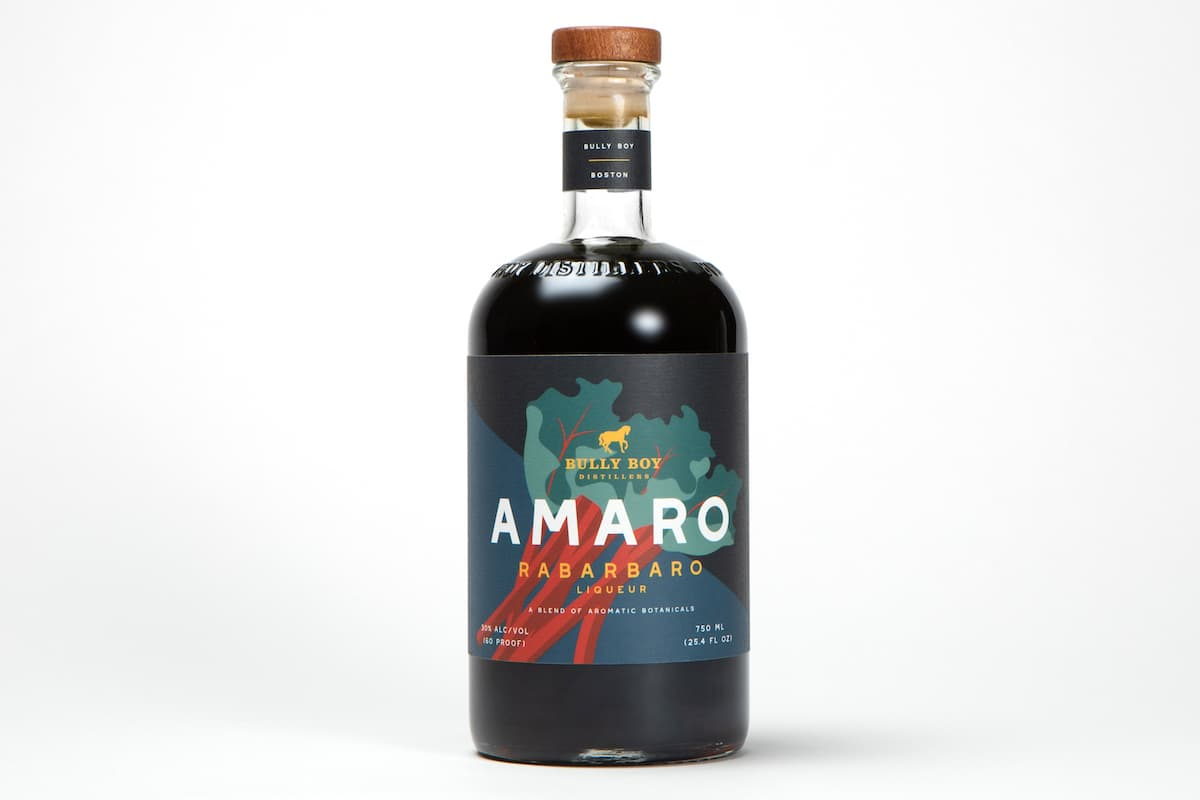 bottlte of Bully Boy Amaro Rabarbaro