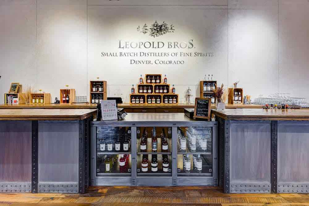 Leopold Bros tasting room in Denver