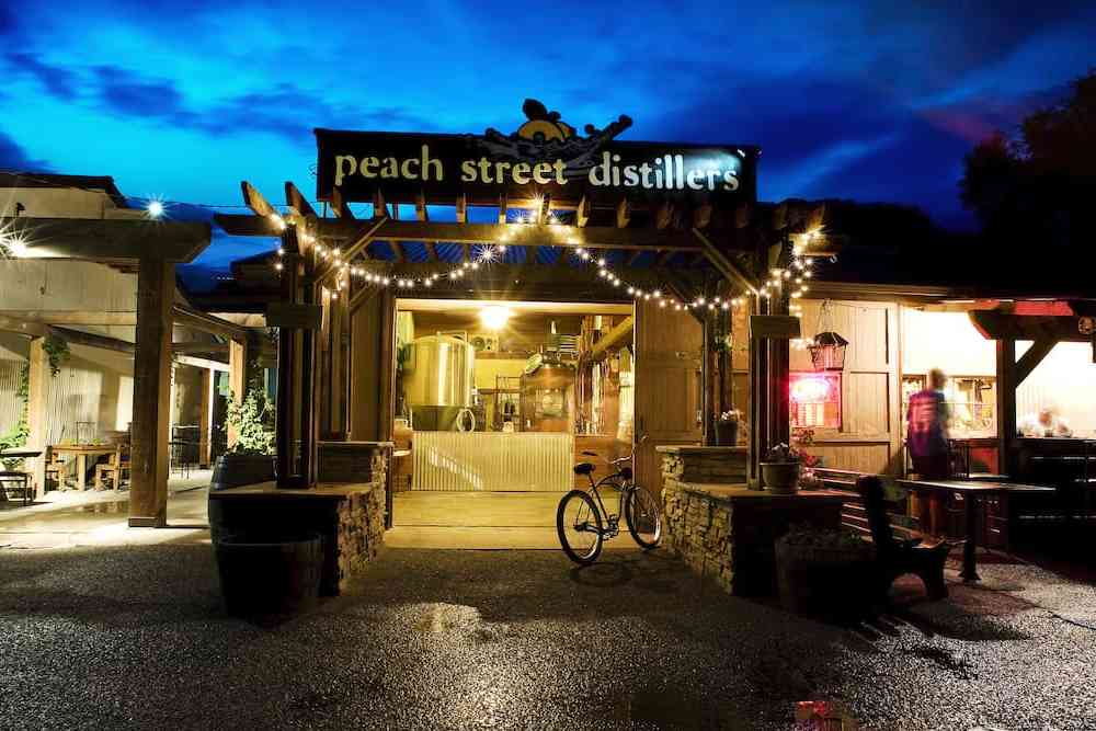 entrance to Peach Street Distillers in Palisade, Colorado