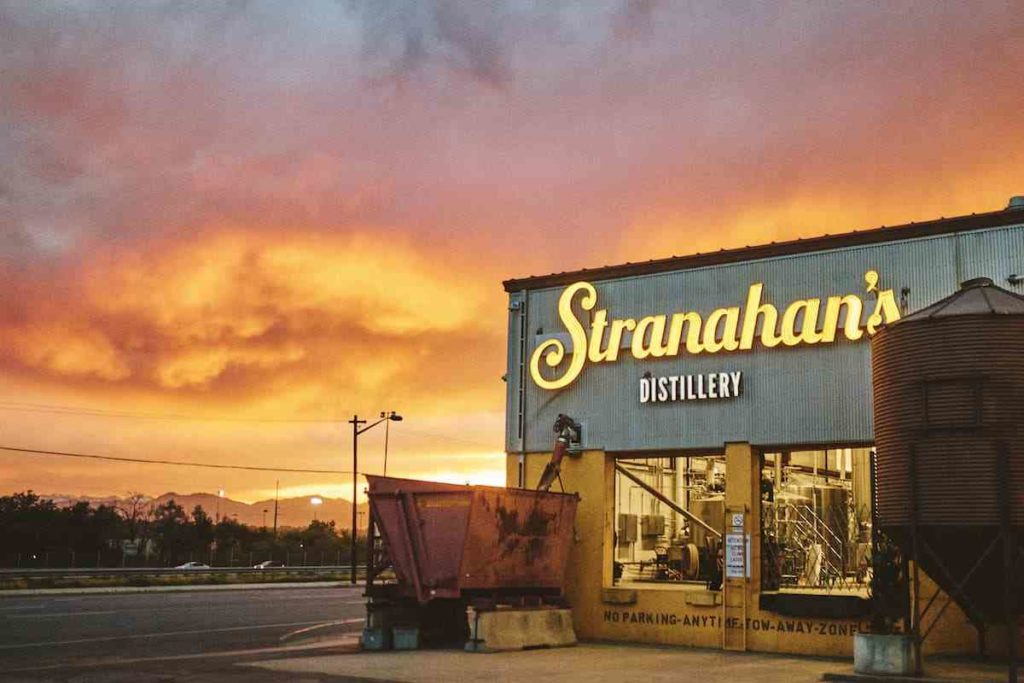 entrance to Stranahan's distillery in Denver, Colorado