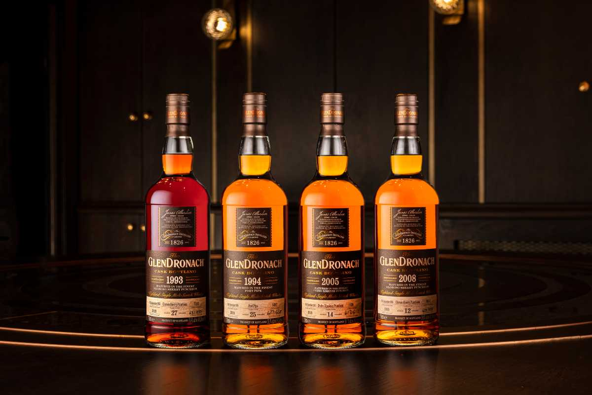 GlenDronach Batch 18 Bottles on a bartop