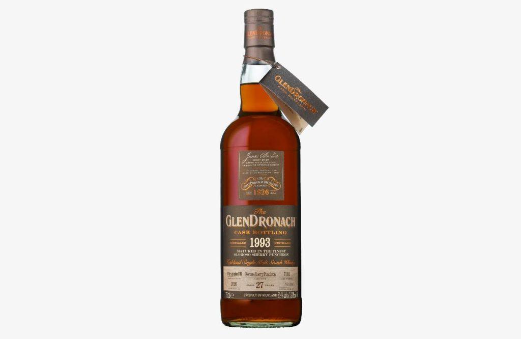 GlenDronach 1993 Cask 7102 scotch whisky bottle