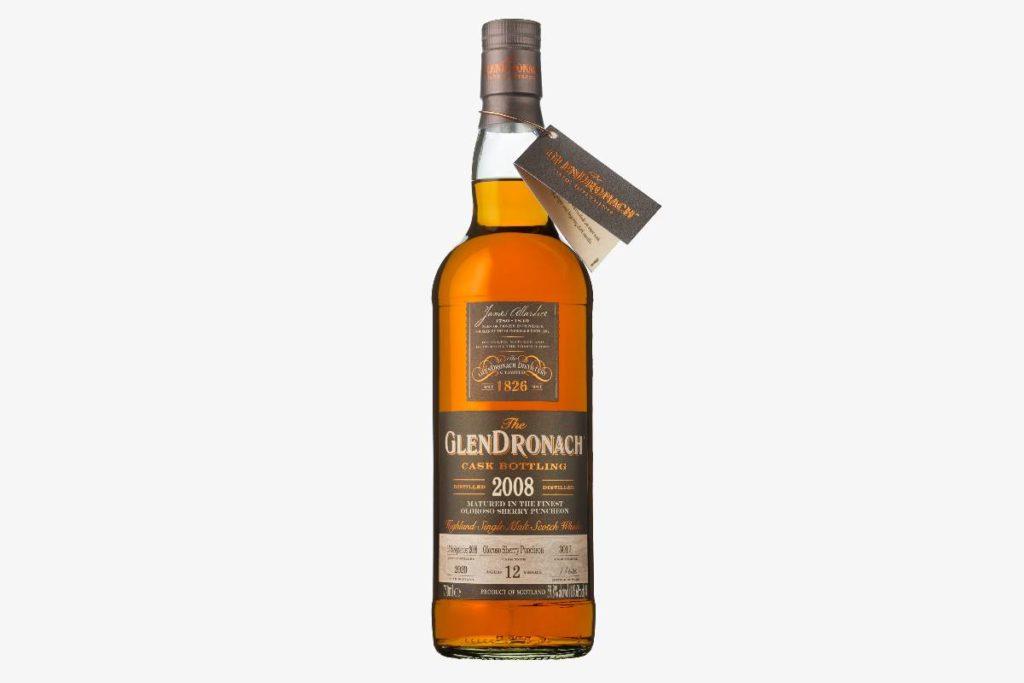 GlenDronach 2008 Cask 3017 scotch whisky bottle