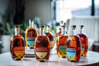 Barrell Craft Spirits whiskey bottles lineup
