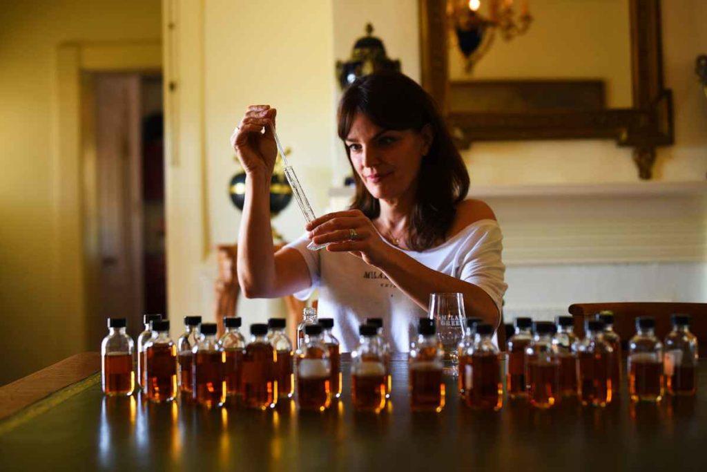 Heather Greene blends whiskey at the Milam & Greene distillery