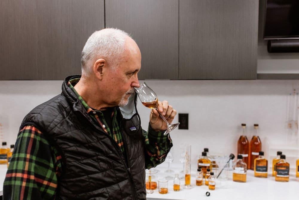 joe beatrice tastes whiskey