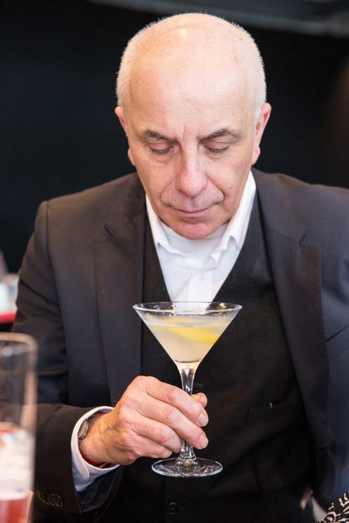 Alessandro Palazzi drinks at Martini at  Dukes Bar in London