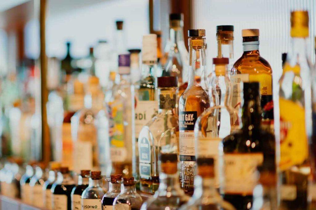 liquor bottles for a bar cart