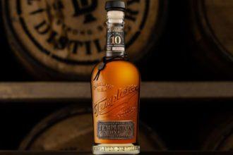 bottle of templeton 10 year rye whiskey