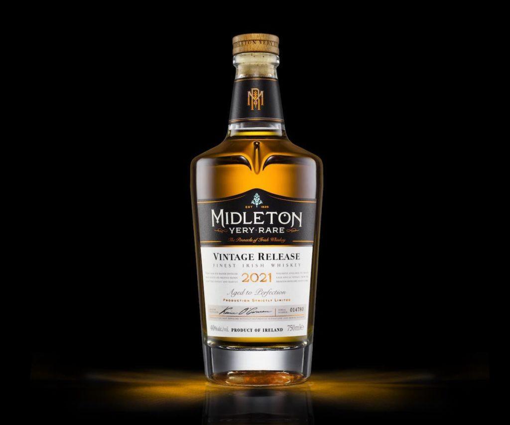 a bottle of Midleton Very Rare Vintage Release 2021 Irish Whiskey