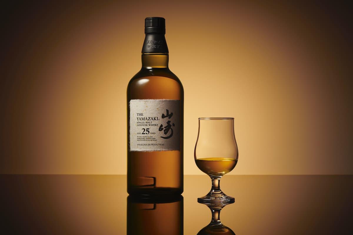 Yamazaki 25 Year Bottle and Glass