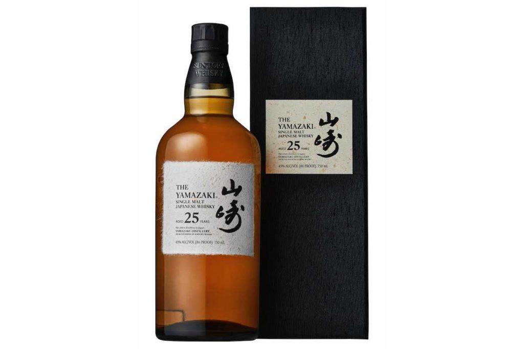 yamazaki 25 year whisky bottle with carton