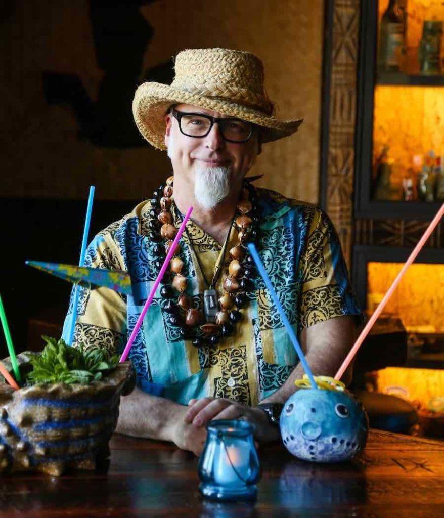 Jeff Beachbum Berry with Tiki drinks
